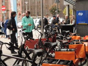 Goedopweg e-bike roadshow bij NS hoofdkantoor